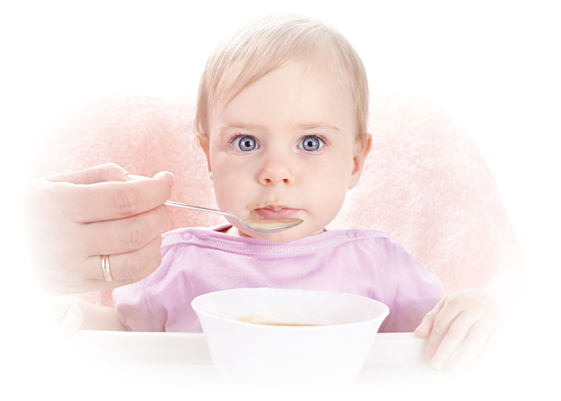 Photo of infant at mealtime